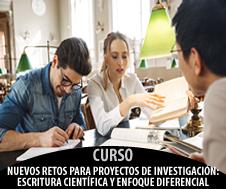 NUEVOS RETOS PARA PROYECTOS DE INVESTIGACIÓN: ESCRITURA CIENTÍFICA Y ENFOQUE DIFERENCIAL