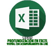PROFUNDIZACIÓN EN EXCEL Virtual con acompañamiento On-Line